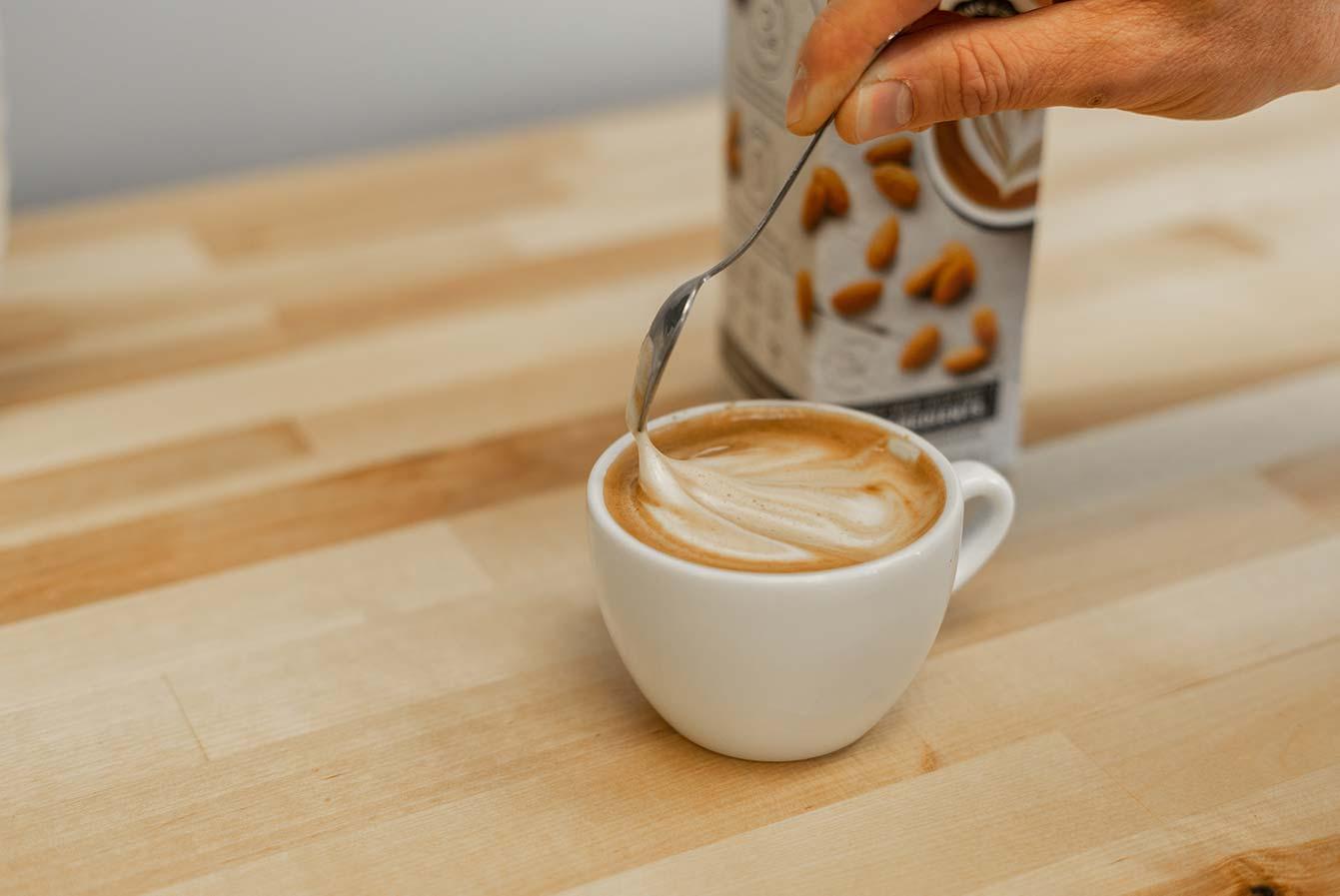 almond milk cap